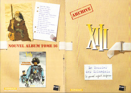 VANCE Plaquette XIII DOSSIER DES IRLANDAIS - XIII