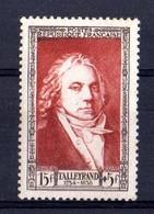 FRANCE Yvert N° 895 TALLEYRAND Neuf - Ungebraucht