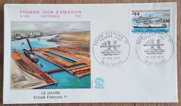 FDC 1973 - YT N°1772 - ECLUSE FRANCOIS 1er - LE HAVRE - 1970-1979