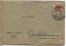 BRD # 124 Hameln Rattenfängerstadt Werbestempel Drucksache 2.10.51 > Würzburg - Storia Postale