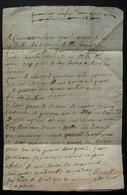 Lettre Non Datée Du 17eme Siècle, Belle écriture, à Propos De Pommes, à Finir De Déchiffrer ! - ....-1700: Voorlopers