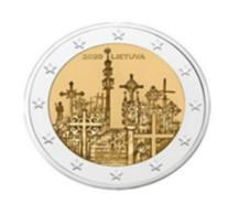 """Litauen  2020  2 Euro  Commemo  """"Hill Off Crosses""""   UNC Uit De Rol  UNC Du Rouleaux  !! - Lithuania"""