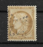 Frankreich 1870 Ceres Mi.Nr. 33 Gestempelt - 1863-1870 Napoléon III. Laure