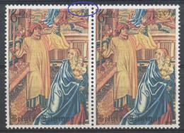 D - [59042]SUP//**/Mnh-N° 1932-v+cu, 6F Tapisserie, Double Tache Dans La Dentelure, En Paire - Errors (Catalogue COB)