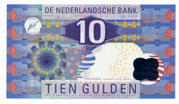 NEDERLAND // ONE NOTE // 10 GULDEN // POLYMER // UNC - Unclassified