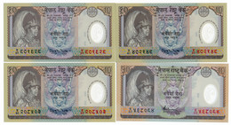 NEPAL // FOUR NOTES // POLYMER // UNC - Nepal