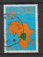 REPUBLIQUE DU ZAIRE : OBP-COB.  1972 - N°801.  *25 Anniversaire De L'Unicef*   14k  Obl * - 1971-79: Gebraucht