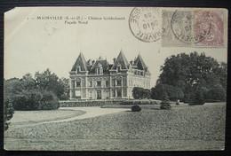 Draveil 1905 Affranchissement à 3 +2 Centimes Sur Cpa De Mainville, Château Goldschmidt - 1877-1920: Semi Modern Period