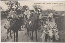 ALGERIE - SCENES ET TYPES - GROUPE DE CAVALIERS ARABES - Plusieurs Hommes Sur Des ânes - Plaatsen