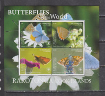 Rarotonga 2020 Butterflies Insects S/s MNH - Butterflies