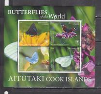 Aitutaki 2020 Butterflies Insects S/s MNH - Butterflies
