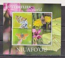 Niuafo'ou 2020 Butterflies Insects S/s MNH - Butterflies