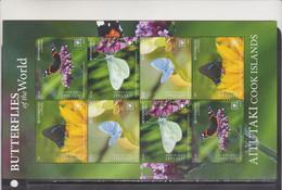 Aitutaki 2020 Butterflies Insects Klb MNH - Butterflies