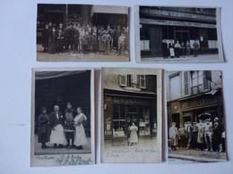 BEAU LOT DE 17 CARTES PHOTOS A IDENTIFIER TOUTES SCANNEES RECTO-VERSO - Versailles