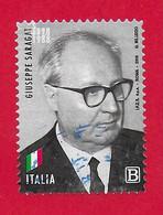 ITALIA REPUBBLICA USATO - 2018 - Presidenti Della Repubblica Italiana - Giuseppe Saragat - Tar. B - S. 3829 - 2011-...: Used
