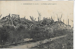 62, Pas De Calais, HAVRINCOURT, Le Château Après La Guerre, Scan Recto-Verso - Autres Communes