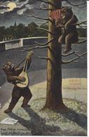 Liebesidylle Im Bärengraben, Fosse Aux Ours, Ours Mandoline, Ours Humanisés Vermenschlichte Bären Circulée 1906 Bern - BE Berne