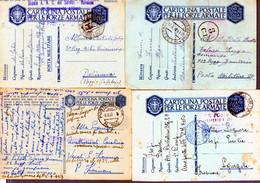 °°° N. 3 Lotto 8 Cartoline Postali Militari Vari Annulli (con Criticità Fori Di Spilli Ecc. Ecc.) Viaggiate °°° - Entero Postal