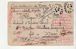Lettre Corps Expéditionnaire Maroc/Toulon/Var Pour Lieutenant D'Infanterie Coloniale/Bataillon De Tirailleurs Sénégalais - Briefe U. Dokumente