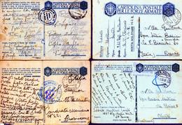 °°° N. 4 Lotto 8 Cartoline Postali Militari Vari Annulli (con Criticità Fori Di Spilli Ecc. Ecc.) Viaggiate °°° - Entero Postal