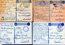 °°° N. 5 Lotto 8 Cartoline Postali Militari Vari Annulli (con Criticità Fori Di Spilli Ecc. Ecc.) Viaggiate °°° - Entero Postal