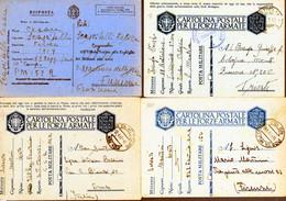 °°° N. 6 Lotto 8 Cartoline Postali Militari Vari Annulli (con Criticità Fori Di Spilli Ecc. Ecc.) Viaggiate °°° - Entero Postal