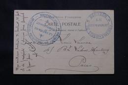 INDOCHINE - Cachet Militaire De Trinh Thuong Recto Et Verso D'une Carte Postale De Chine En 1903 Pour Paris - L 76126 - Covers & Documents