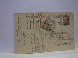 SIENA  E PROV. --ANNULLO TONDO --RIQUADRATO -FRAZIONALE -- LOC. RADDA IN CHIANTI - 24-11-26 - Storia Postale