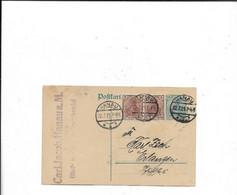 Karte Aus Hanau Nach Erlangen 1921 - Storia Postale