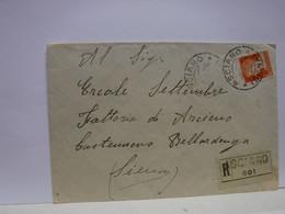 SIENA  E PROV. --ANNULLO TONDO --RIQUADRATO -FRAZIONALE -- LOC.- ASCIANO  --8-7-35 - Storia Postale