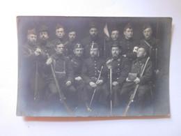 Carte Photo Groupe Garde Civique Belgique  Aout 1914 / Buyle Photo - St Nicolas - Uniformen