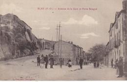 66 - ELNE - AVENUE DE LA GARE ET PORTE BALAGUE - Edit FAU - Elne