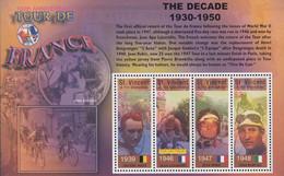 St.Vincent  2003 100th Anniversary Tour De France  Michel Bl.5856-59  MNH 28715 - Ciclismo