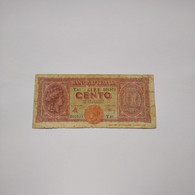 ITALIA - P75a  100L 10/12/1944 - - 100 Liras