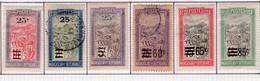 Madagascar 1922-27 Filanzane Surchargé 25c Sur 15c A 85c Sur 45c YT 144-49 - Gebruikt