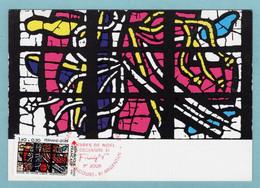 Carte Maximum 1981 - Croix Rouge 1981 - Fernand LEGER La Flagellation  - YT 2175  - Audincourt Et Argentan - 1980-89