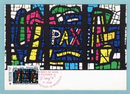 Carte Maximum 1981 - Croix Rouge 1981 - Fernand LEGER La Paix  - YT 2176  - Audincourt Et Argentan - 1980-89