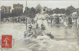 17   Royan   Carte Photo Sur La  Plage  Aout 1907 Concours De Forts - Royan