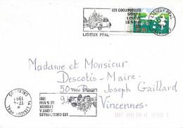 CALVADOS 14  - LISIEUX-   LES COCCINELLES SONT A LISIEUX 5 MAI 1991  - TIMBRE N° 2690 -  AU TARIF 11 1 90  - 1991 - Maschinenstempel (Werbestempel)