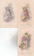 CPA Illustrateur Signée ,M.M.VIENNE N°353 ( Poussins ) 3 Cartes Non écrites , Superbes ! - Non Classés