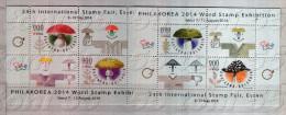 2014 MUSHROOM (W.Exh.stamp-Philakorea ;Int.stamp-Essen)  2 S/S-( Missing Value) BULGARIA / Bulgarie - Blocchi & Foglietti