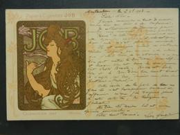 CPA  Calendrier 1897 JOB   Signé MUCHA    1902 - Mucha, Alphonse
