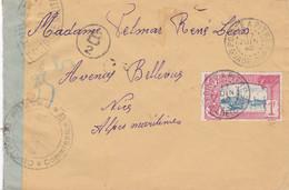 POINTE A PITRE, 1940, Sur Enveloppe, Tampons De Contrôle De L'autorité Militaire - Non Classificati