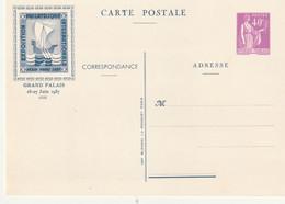 Entier Postal Type Paix 40 Cts Exposition Pexip 1937 - Cartes Postales Types Et TSC (avant 1995)