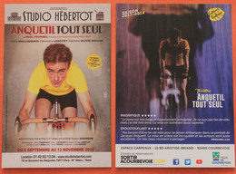 """Cyclisme :  2 Cartes Différentes Du Spectacle """" Anquetil Tout Seul"""" - Ciclismo"""