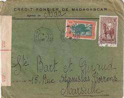 Madagascar -  Lettre Avec Censure Anglaise De 9 Juin 1940 - Brieven En Documenten