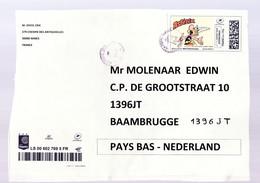 Frankrijk Gedeelte Van Postpakket Met Asterix Pakketzegel En Expresse Strook - 2018-... Marianne L'Engagée