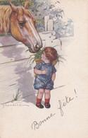 Illustrateur  Italien Castelli  - Circulée 1922 - Enfant Et Cheval - (lot Pat 125) - Castelli
