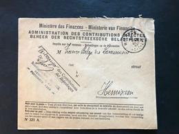 "Brief Voorgedrukt ""Ministere Des Finances Administration Des Contributions Directes"" 1930 Portvrij WILRYCK - Zonder Portkosten"