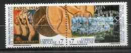 Equipe D'Uruguay, Championne Du Monde Football J.O De Paris En 1924. Deux T-p Neufs ** Se-tenant D'URUGUAY. - 1930 – Uruguay